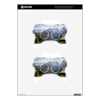 Blue mountain lake  oeschinen pond in nature xbox 360 controller decal