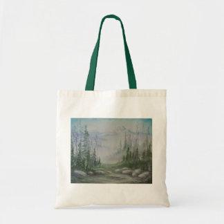 Blue Mountain Landscape Tote Bag