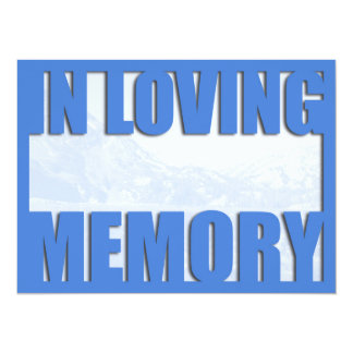 Blue Mountain Loving Memory Funeral Announcement