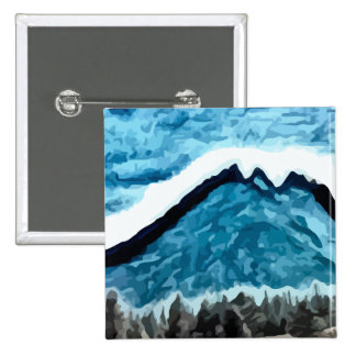 Blue Mountain  painting Pinback Buttons