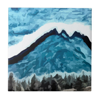 Blue Mountain  painting Tiles