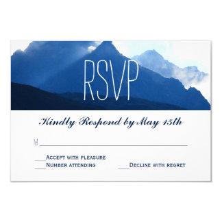 Blue Mountain Range Silhouette Wedding RSVP Cards