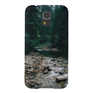 Blue Mountain River With Rocks and Forest Cases For Galaxy S5