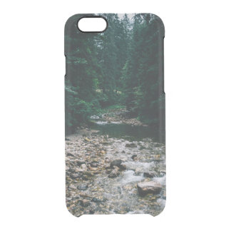 Blue Mountain River With Rocks and Forest Clear iPhone 6/6S Case