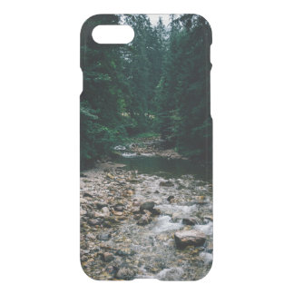 Blue Mountain River With Rocks and Forest iPhone 7 Case