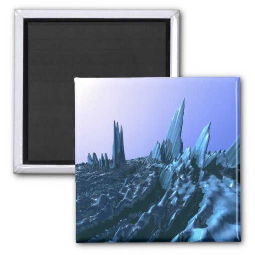 Blue Mountains 2 Inch Square Magnet
