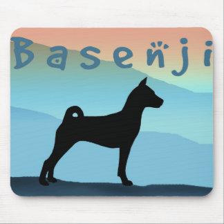 Blue Mountains Basenji Mouse Pad