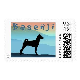 Blue Mountains Basenji Stamp