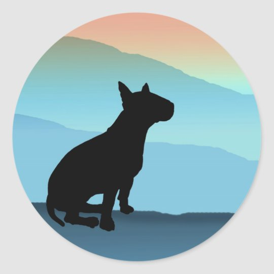 Blue Mountains Bull Terrier Classic Round Sticker