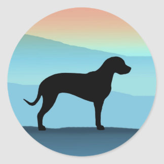 Blue Mountains Catahoula Round Stickers