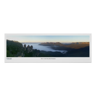 Blue Mountains Dawn Poster