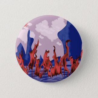 Blue mountains & fire pinback button