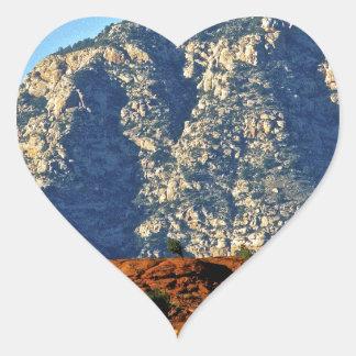 blue mountains heart sticker