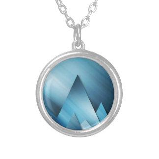 Blue Mountains.jpg Round Pendant Necklace
