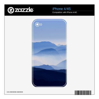 Blue Mountains Meditative Relaxing Landscape Scene Decals For The iPhone 4S