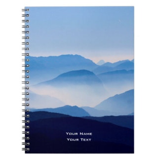 Blue Mountains Meditative Relaxing Landscape Scene Notebook