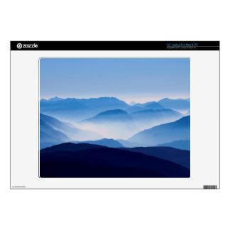 "Blue Mountains Meditative Relaxing Landscape Scene Skins For 14"" Laptops"