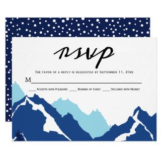 Blue mountains wedding RSVP response card