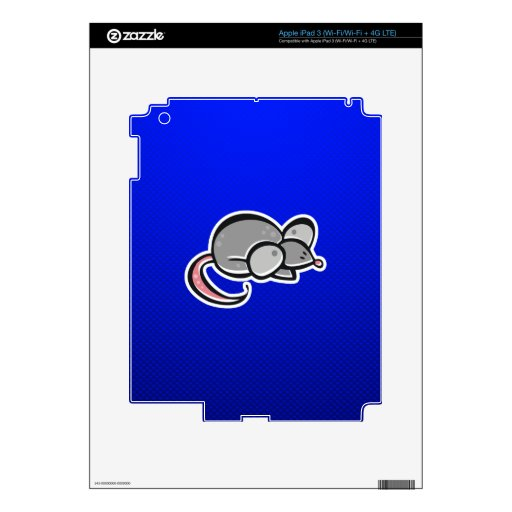 Blue Mouse Decals For iPad 3