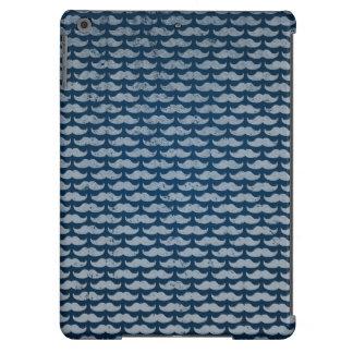 blue moustache pattern iPad air case