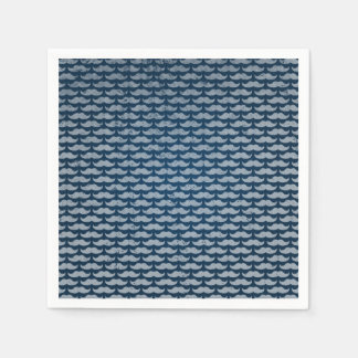 blue moustache pattern paper napkin