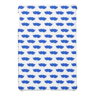 Blue Moustaches iPad Mini Covers