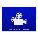 Blue Movie Camera Greeting Card