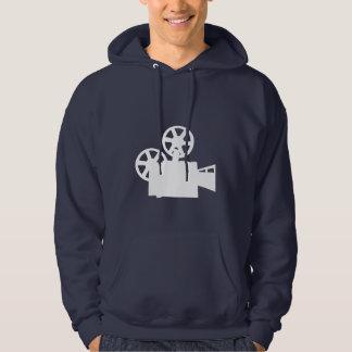 Blue Movie Camera Hooded Pullover