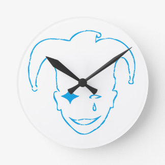Blue MTJ Round Clock