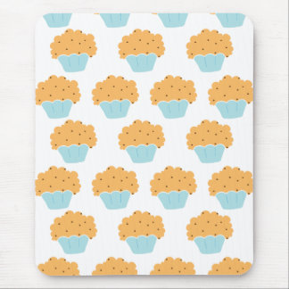Blue Muffin pattern Mouse Pad
