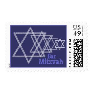 Blue Multi-Star Stamp