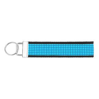 Blue multicolored  circle pattern wrist keychain