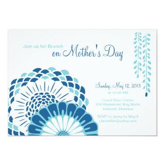 """Blue Mum's Day 5x7 Invitations 5"""" X 7"""" Invitation Card"""