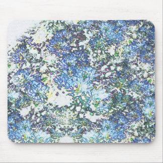 Blue Mums Mouse Pad