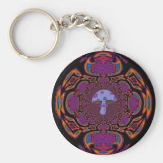 Blue Mushroom #12 Keychain