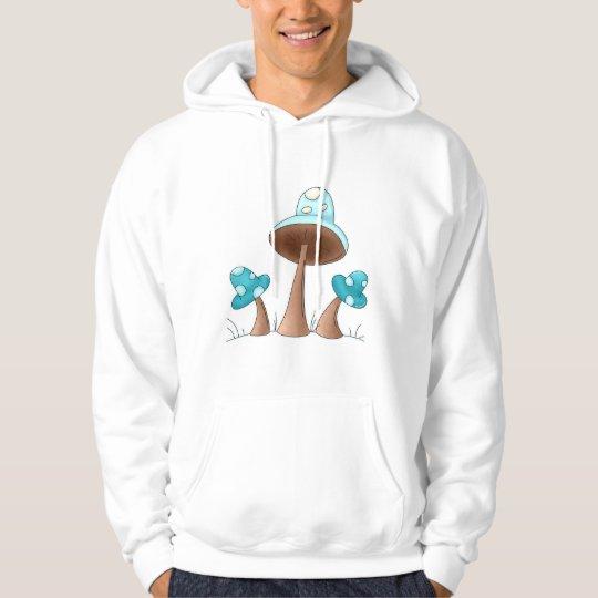 Blue Mushrooms Hoodie