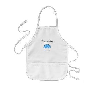 Blue mushrooms kids' apron