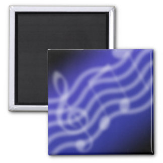Blue Music 2 Inch Square Magnet