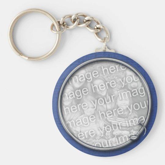 Blue Music Keychain