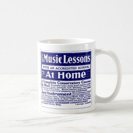 """Blue """"MUSIC LESSONS"""" Coffee Mug"""