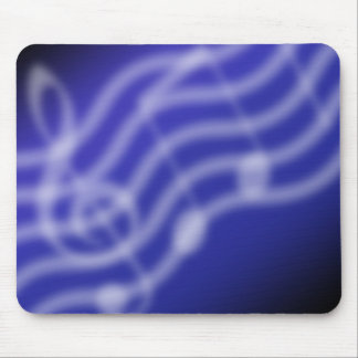 Blue Music Mouse Pad