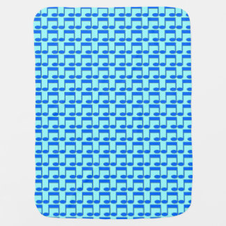 Blue Music Note Baby Blanket