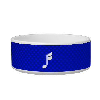 Blue Music Note Cat Food Bowls