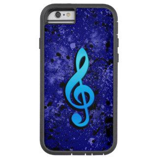 Blue Music Note Symbol Tough Xtreme iPhone 6 Case