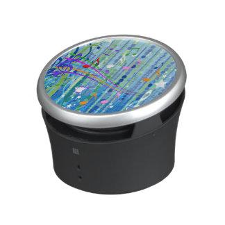 Blue Music Pattern Bumpster Speakers Bluetooth Speaker
