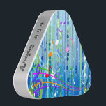 """Blue Music Pattern Pieladium Speakers<br><div class=""""desc"""">Spice up any party with this Blue Music Pattern Pieladium Speaker, a portable Bluetooth speaker that delivers undeniably bold sound. Blue Music Pattern Pieladium Speaker features blue and green swirls, dots, white, pink, blue, orange, purple and green musical notes and white stars . A great gift for any music lover....</div>"""