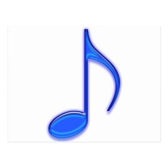 Blue Music Tools Postcard