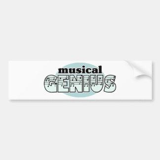 Blue Musical Genius Car Bumper Sticker