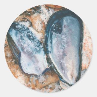 Blue Mussel in Winter Sticker