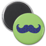 Blue Mustache Fridge Magnets